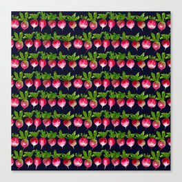 Watercolor radish seamless pattern Canvas Print