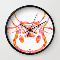 bull Wall Clocks featuring Bull by Gusvili