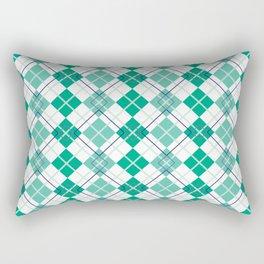Emerald Argyle Rectangular Pillow