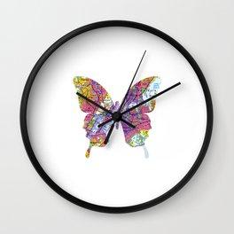 New York butterfly Wall Clock