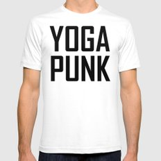 yoga punk White SMALL Mens Fitted Tee