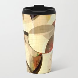 Mod art, circle art, Mid Century Modern Travel Mug