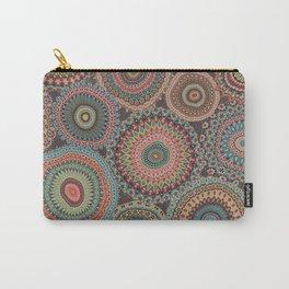 Boho Patchwork-Vintage colors Carry-All Pouch