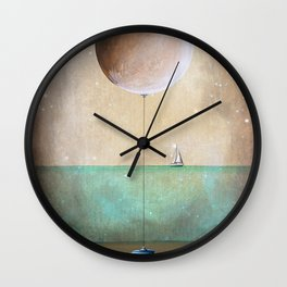 High Tide - Ship at Sea Wall Clock