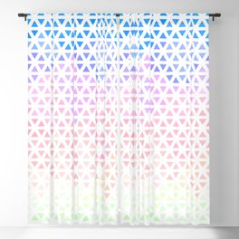 Groovy Boho Modern Triangle Gradient Blackout Curtain