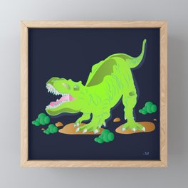 Dino - Bright Framed Mini Art Print