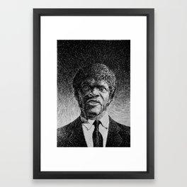 Jules Winnfield Portrait  Samuel L Jackson Pulp Fiction Framed Art Print