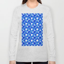 Abstract Rings - Blue Long Sleeve T-shirt