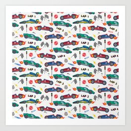 Racing Cars  Art Print