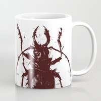 beetle Mugs featuring Beetle by Bearded Hunter