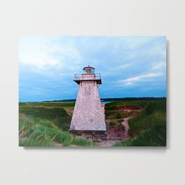 Lighthouse in St Peter's Harbour Metal Print
