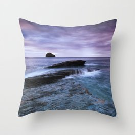 Gull Rock Sunset Throw Pillow