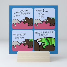 All The Gossips (Horned Warrior Friends) Mini Art Print