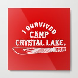 i survived friday the 13th Metal Print
