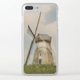 A mill in rural The Netherlands Clear iPhone Case