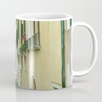 italy Mugs featuring italy by Harriet Hendricks
