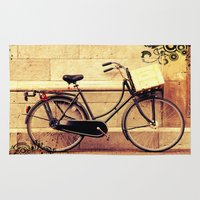 bicycle Area & Throw Rugs featuring Bicycle by Indigo Rayz