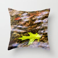 underwater Throw Pillows featuring underwater by Bonnie Jakobsen-Martin