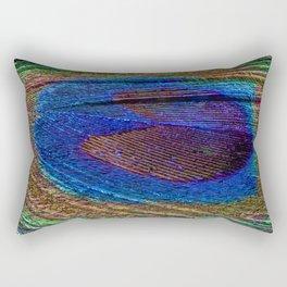 Peacock feather close up Rectangular Pillow