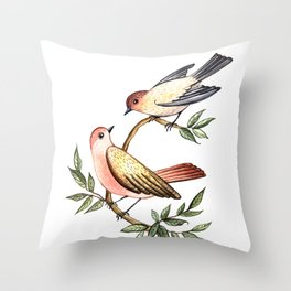 Bird lovers Throw Pillow