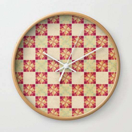 Vintage Tiles Wall Clock