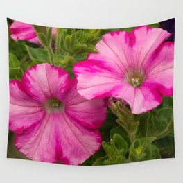 Pink Pansies Wall Tapestry