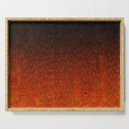 Orange & Black Glitter Gradient Serving Tray