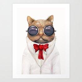 Astro Cat Art Print