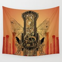 decorative Wall Tapestries featuring Decorative clef by nicky2342