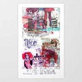 Infectiously Nice Doooooodle Art Print