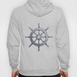 Steering Wheel and Navy Blue Stripes Hoody