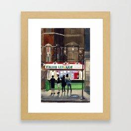 Mario's Italian Lemonade: Chicago, IL Framed Art Print