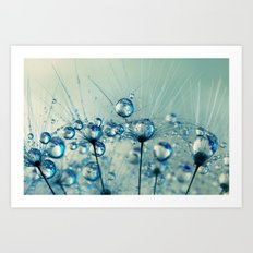 A Shower of Blue Dandy Drops Art Print