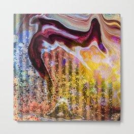 Marble Grease Metal Print