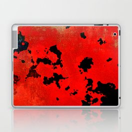 Red Modern Contemporary Abstract Textured Design Laptop & iPad Skin