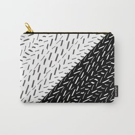 Artistic black white hand painted brushstrokes Carry-All Pouch