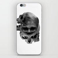 skulls iPhone & iPod Skins featuring Skulls by TattoosandartbyJared