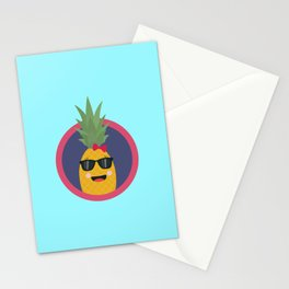 Cool pineapple with sunglasses Stationery Cards