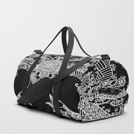 Unity of Halves - Life Tree - Rebirth - Black Duffle Bag