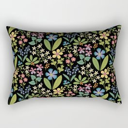 Purple Violets Rectangular Pillow