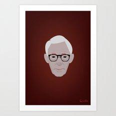 Portrait: Woody Allen Art Print