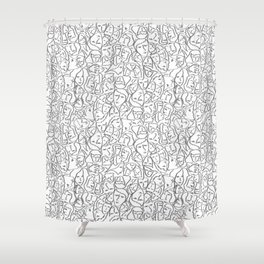 Call Me By Your Name Elios Shirt Faces in Faded Outlines on White CMBYN Shower Curtain