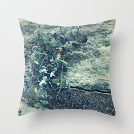 Baku wall flower Throw Pillow