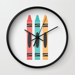 #94 Crayon Wall Clock
