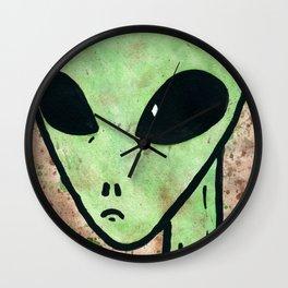 Alien Face 3 Wall Clock