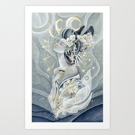 Moon Oiran Art Print