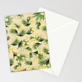 Palm Leaves Lemon Summer Vibes #1 #pastel #tropical #decor #art #society6 Stationery Cards