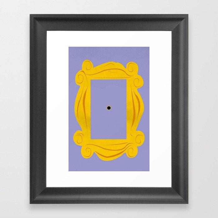 Friends Door Frame Framed Art Print by irdion | Society6