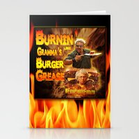 grease Stationery Cards featuring Burn Like Gramma's Burger Grease by Big Tasty