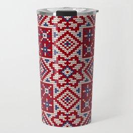 Pattern in Grandma Style #34 Travel Mug